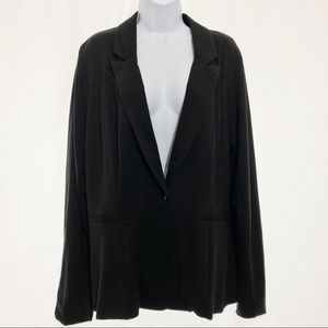 Maurices Jersey Knit Button Front Blazer In Black